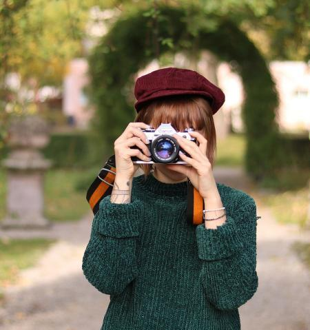 Fotgrafin hinter Kamera
